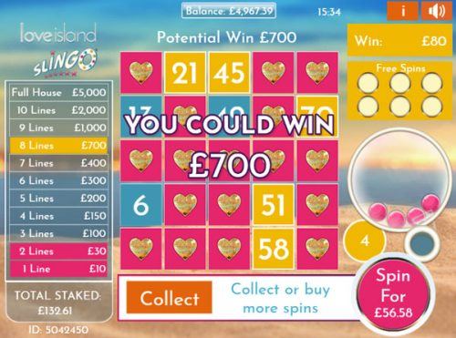 How to win big in Love Island Slingo