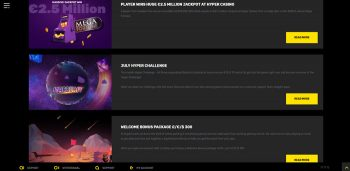 Hyper Casino UK promotions page
