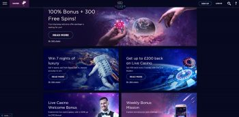 Weekly or monthly casino promotions
