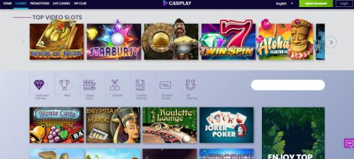 Games available at Casiplay Casino