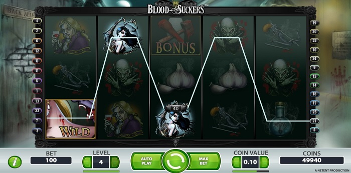 Blood Suckers slot is available to be played at UK slot sites via labslots.com