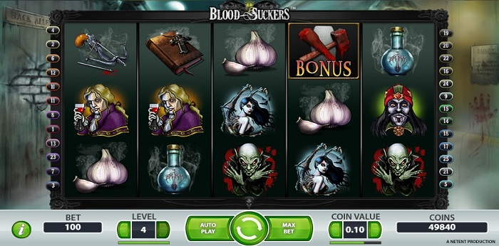 Play Blood Suckers slot game at labslots