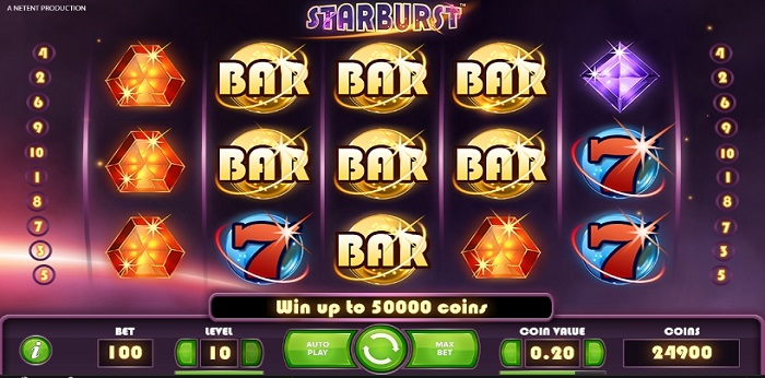 Starburst is one of the most popular slots available