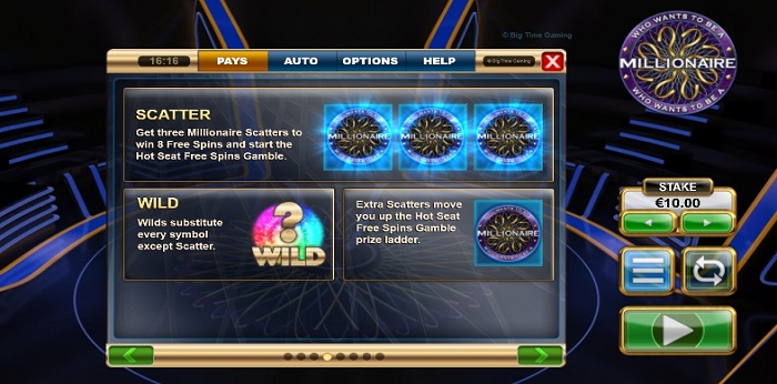 Read about the Who Wants to be a Millionaire Slot game