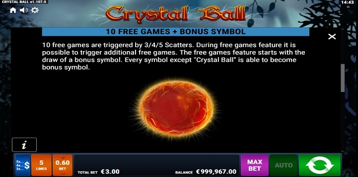 Crystal Ball Free Games and Bonus Symbol