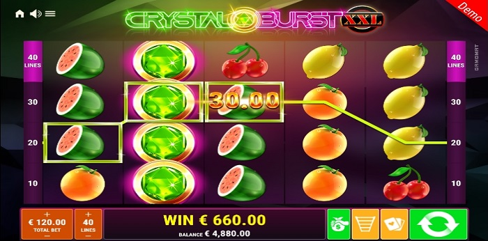 Crystal Burst XXL Max Bet and Auto Play