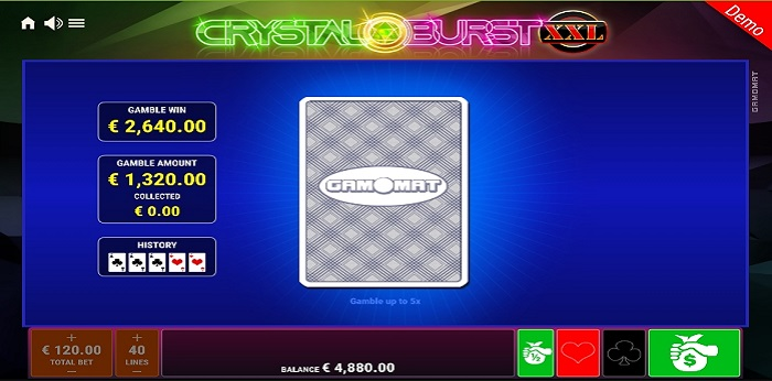 Crystal Burst XXL Gamble Bonus