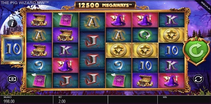 The Pig Wizard Megaways Paytable