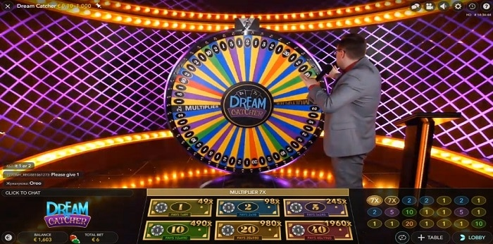 dream catcher game show slot