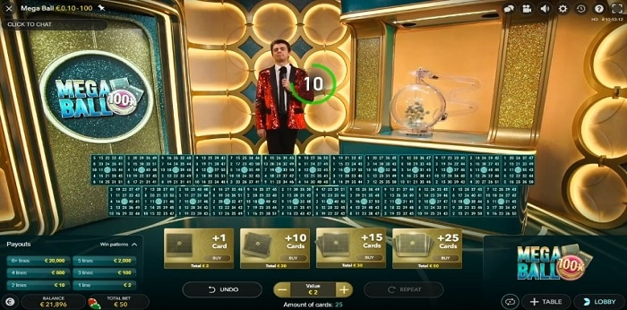 Mega Ball game show slot