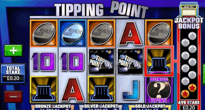 Tipping point themed slot