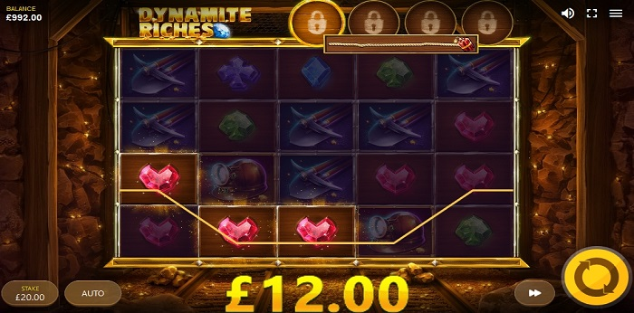 Dynamite Riches online slot game win