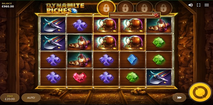 Dynamite Riches online slot game screen