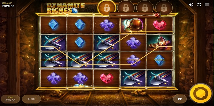 Dynamite Riches online slot another game screen