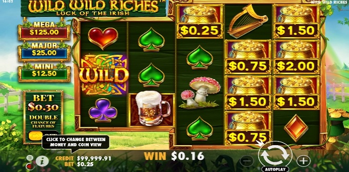 Wild Wild Riches game screen