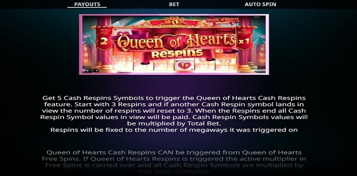 Queen of Hearts Megaways Respins