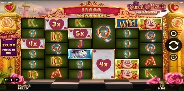 Queen of Hearts Megaways Multiplier