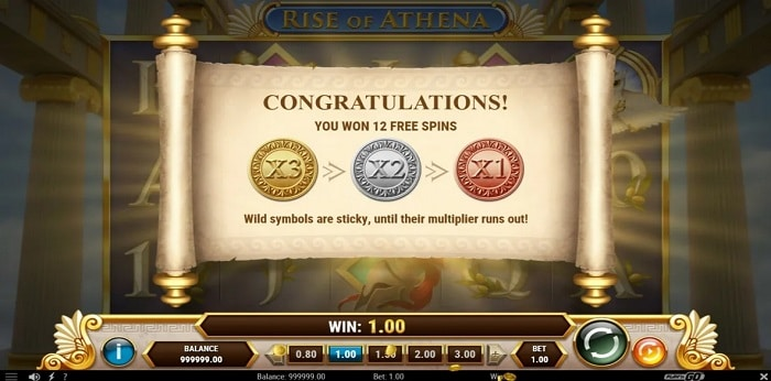 Rise of Athena free spins